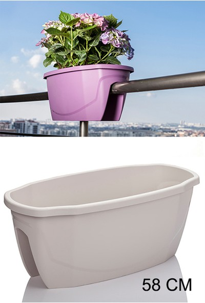 Mini Garden Zümrüt Balkon Saksı 16 Lt