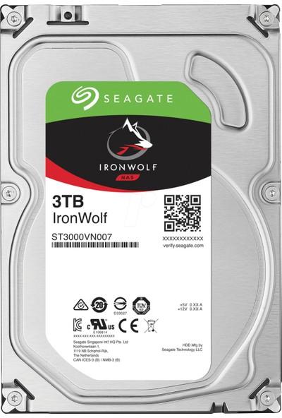 "Seagate IronWolf NAS HDD 3TB 3.5"" 5900RPM 64MB Cache Sata 3 Sabit Disk ST3000VN007"