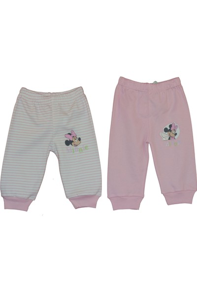 Disneybaby Mini Mouse 2'li Patiksiz Pantolon - Pembe - 6 - 9 Ay