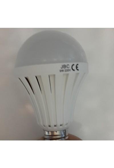Jbc 9Watt E27 220 V Şarjlı Beyaz Led Ampul 6500K