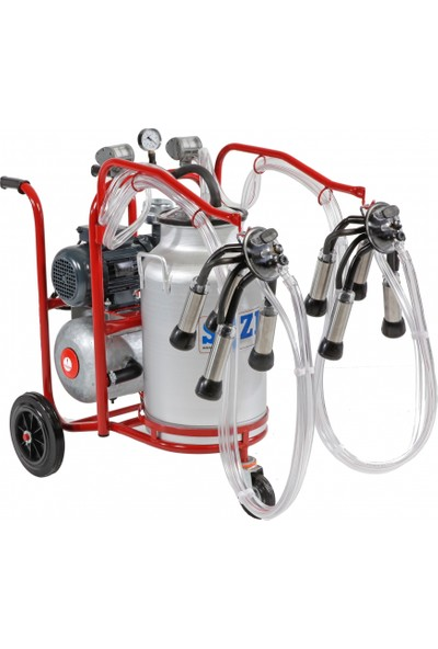 Sezer Pls 2/1 Alüminyum Güğümlü Süt Sağım Makinası