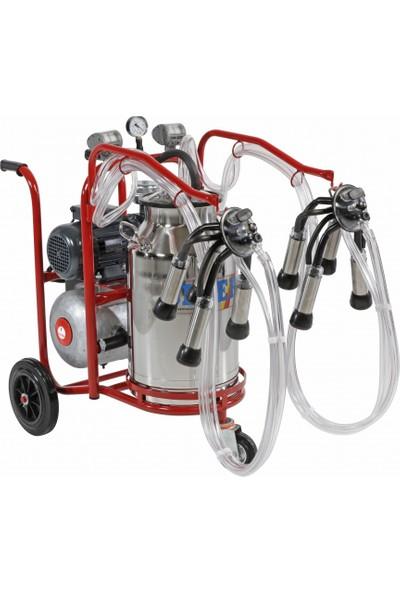 Sezer Pls 2/1 Çelik Güğümlü Süt Sağım Makinası