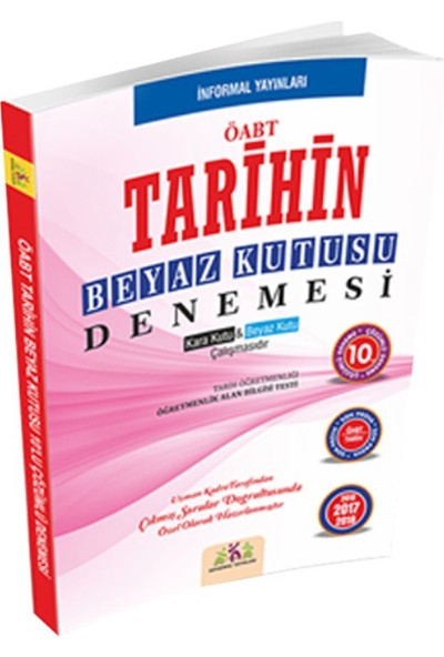 İnformal Yayınları Öabt Tarihin Beyaz Kutusu 10'Lu Çözümlü Denemesi