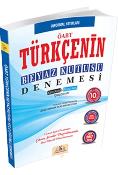 İnformal Yayınları Öabt Türkçenin Beyaz Kutusu 10'Lu Çözümlü Denemesi