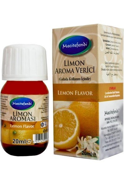 Mecitefendi Limon Aroması 20ml