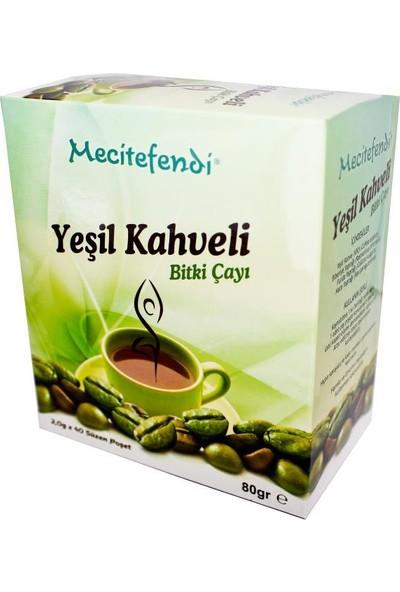 Mecitefendi Yeşil Kahveli Çay (Süzen Poşet 40'Lı)
