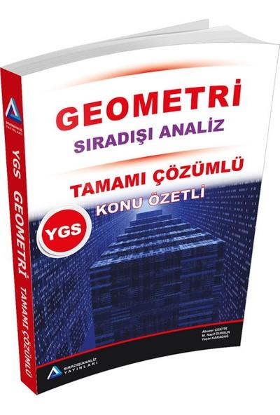 Sıradışı Analiz YGS Geometri Tamamı Çözümlü Konu Özetli Soru - M.Nazif Dursun