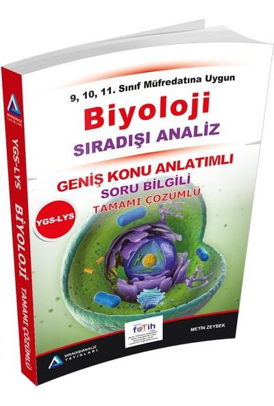 Sıradışı Analiz YGS LYS Biyoloji Tamamı Çözümlü Konu Özetli - Metin Zeybek