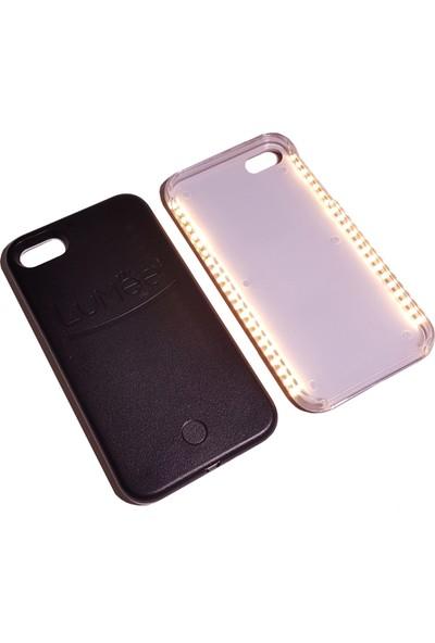Lumee Apple iPhone 7 için Led Işıklı Siyah Kılıf cin91sy