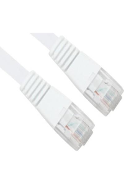Vcom M746 Cat5E 2 mt Beyaz Utp Patch Kablo