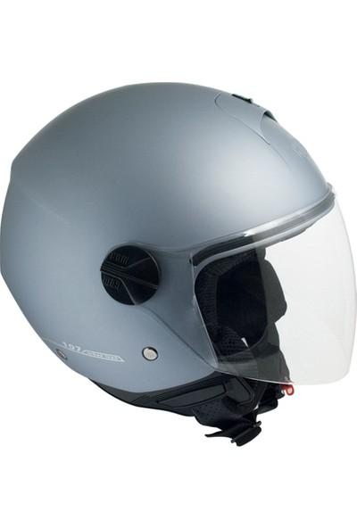 CGM Florence Gri Açık Motosiklet Kaskı Uzun Vizör 107A-FLA-18B Small