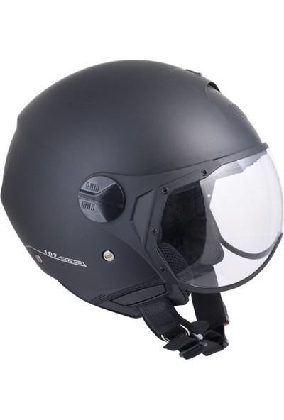 CGM Florence Siyah Açık Motosiklet Kaskı Kısa Vizör 107A-FSA-01B Small