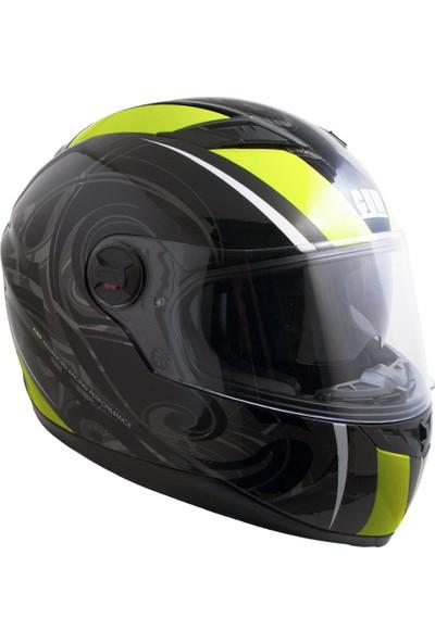 CGM Los Angeles Kapalı Motosiklet Kaskı Sarı-Siyah 308G-ALV-93B Small