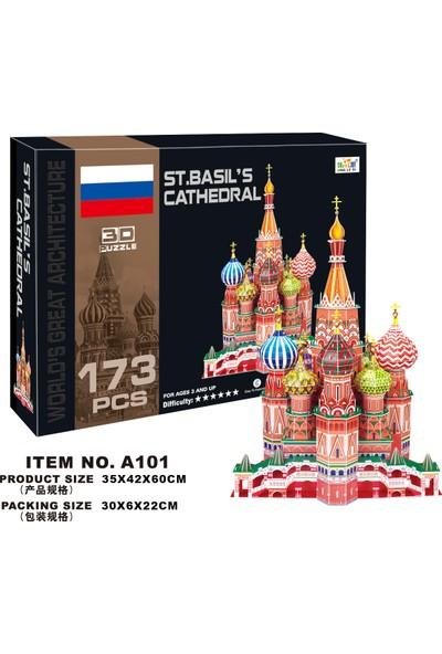Cc Oyuncak 3D Puzzle St.Basil's Cathedral - 173 Parça