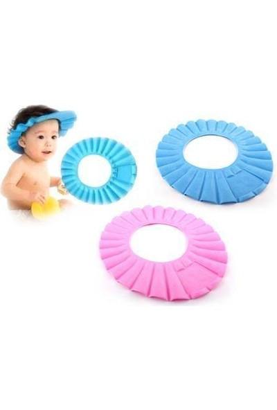 Anka Göze Su Kaçırmayan Ayarlanabilir Minderli Bebek Banyo Şapkası