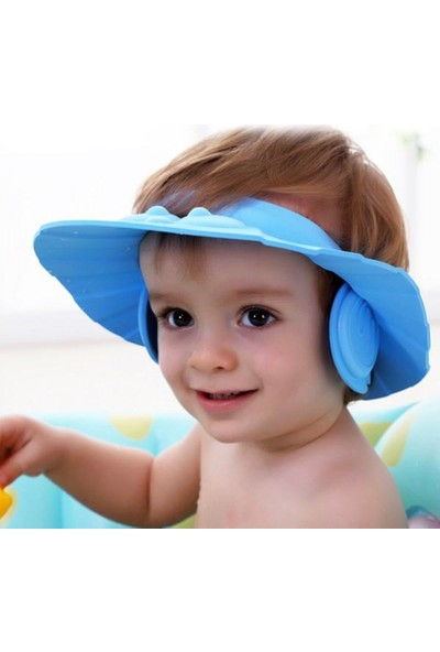 Anka Kulaklıklı Düğmeli Ayarlanabilir Bebek Banyo Şapkası