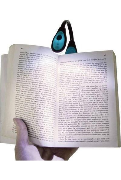 Anka Mandallı Bükülebilir Kitap Okuma Işığı