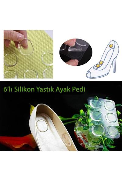 Anka Parmak Koruyucu Silikon Yastık Ayak Pedi 6 Adet (Ayakkabı Vurmalarına Son)