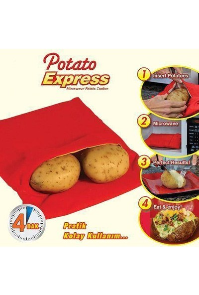 Anka Patates Pişirme Kumpir Torbası Potato Express
