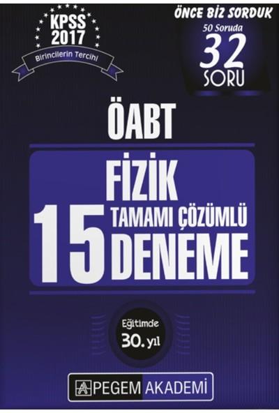 Pegem Yayınları Kpss Öabt 2017 Fizik Tamamı Çözümlü 15 Deneme