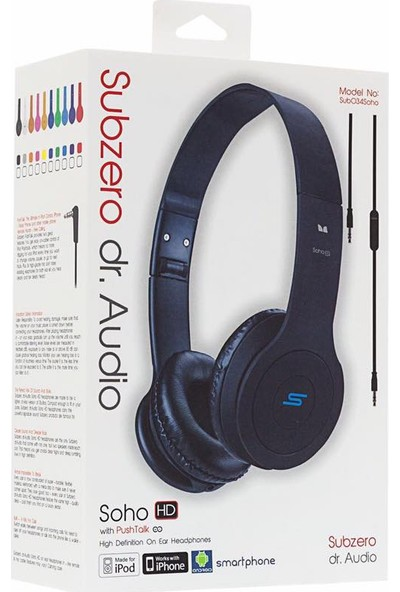 Subzero Soho Dr. Audio Mikrofonlu Kulaklık Siyah