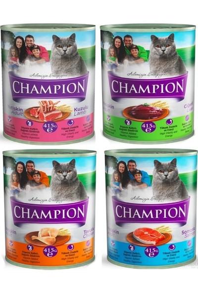 Champion 24 Adet Karışık Kedi Konservesi 24 X 415 gr