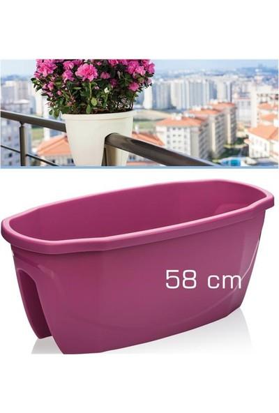 Homecare Korkuluk Küpeşte Saksı Vişne Renk 58 Cm 091966