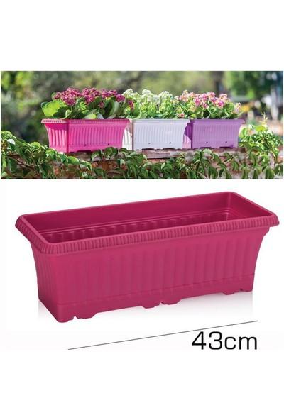 Homecare Balkon Saksı Vişne Renk 091982