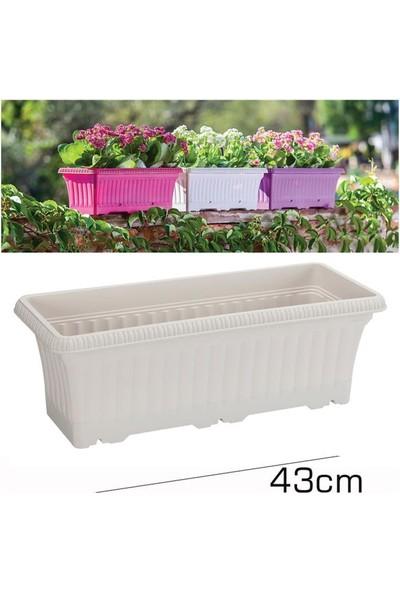 Homecare Balkon Saksı Kirli Beyaz Renk 091984