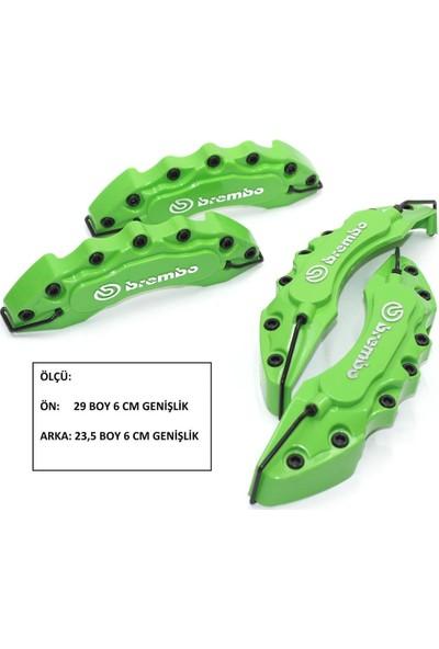 Brembo 6'lı Paket Kabartmalı Yeşil Ön-Arka Kaliper Kapak Seti 104364