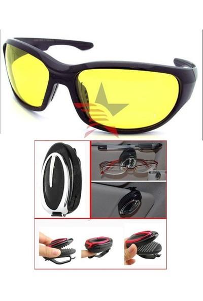 Modacar 6'lı Paket Gece Sürüş Gözlüğü + Gözlük Tutucu 338828