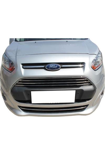 Spider Ford Connect Ön Panjur-Tampon Çıtası 4 Parça Paslanmaz Çelik 2014 Üzeri Modeller