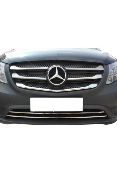 Spider Mercedes Vito Ön Panjur 5 Parça Paslanmaz Çelik 2015 Üzeri Modeller