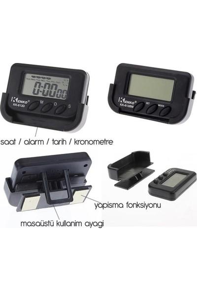Modacar 6'lı Paket Mini Dijital Saat Tarih Kronometre Göstergesi 45A003