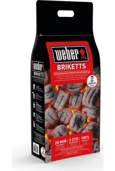 Weber Brıquette 4 Kg Mangal Kömürü