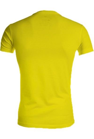 Wgust V Yaka T-Shirt ( Sarı )