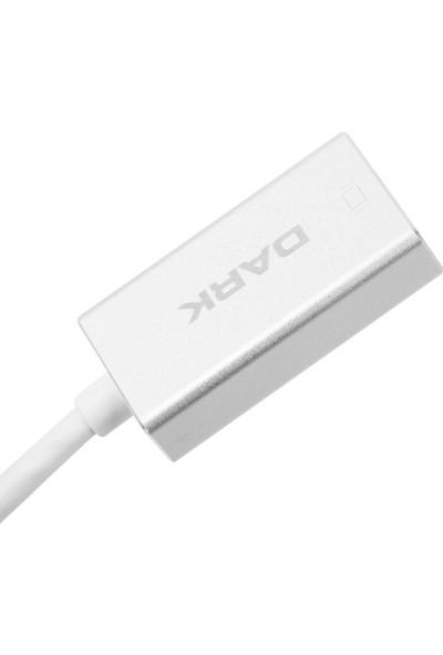 Dark USB 3.1 Type-C' den (4K UHD) Display Port Dönüştürücü Adaptör (Alüminyum Kasa)(DK-AC-U31XDP)