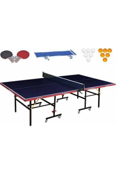 Delta Olympus Mavi Masa Tenisi Masası + Ağ-Demir + 2 Raket + 3Top