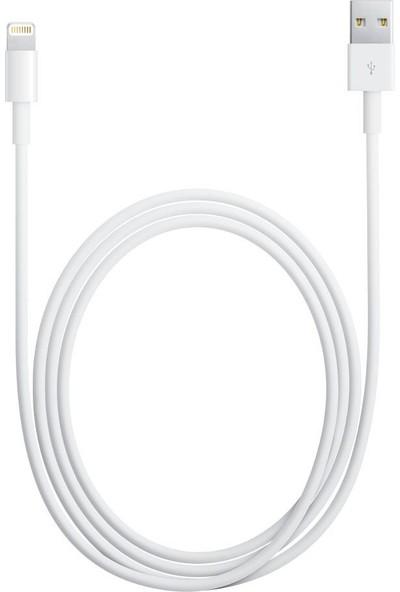 Apple Lightning (2m) USB Kablo (iPhone 5/5s/SE/6/6s/7 / Plus / 8 / X / iPod / iPad) - MD819ZM/A-(Kutusuz) - (İthalatçı Garantili)