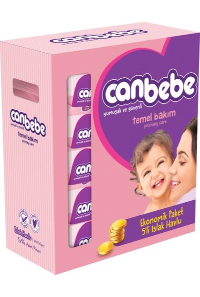 Canbebe 5'li Fırsat Paketi Islak Havlu / 280 Yaprak