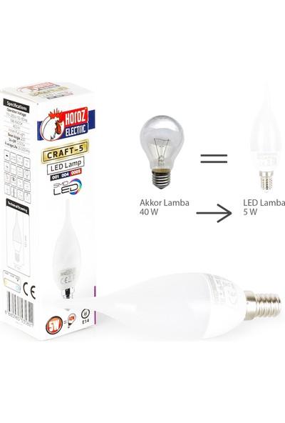 Horoz Electric Led Buji Ampul E14 5W 6400K Beyaz Işık - 6 Adet