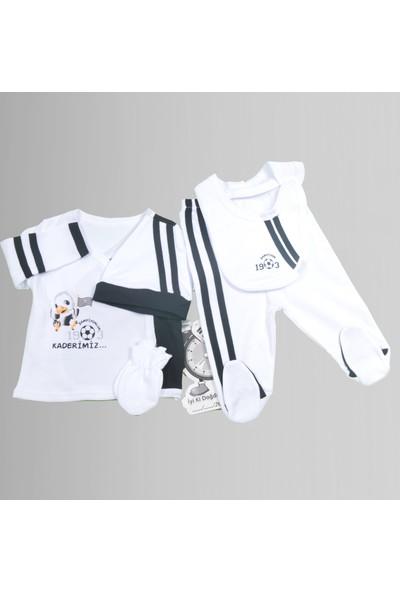 İmaj Beşiktaş Bebek Hastane Çıkışı Yeni Doğan Seti 5'li İmaj 0598Bjk