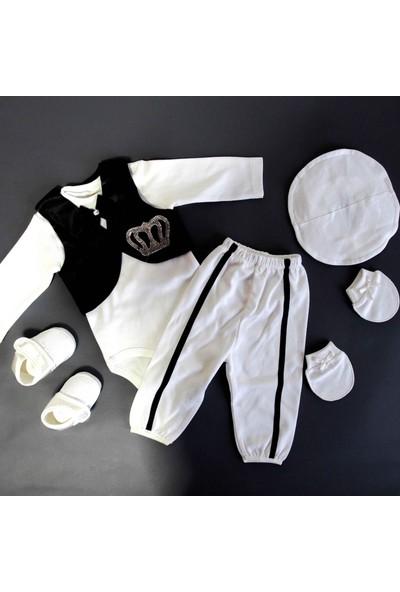 Bebetomy Erkek Bebek Mevlüt Seti Hastane Çıkışı 5 Parça 1054 Siyah
