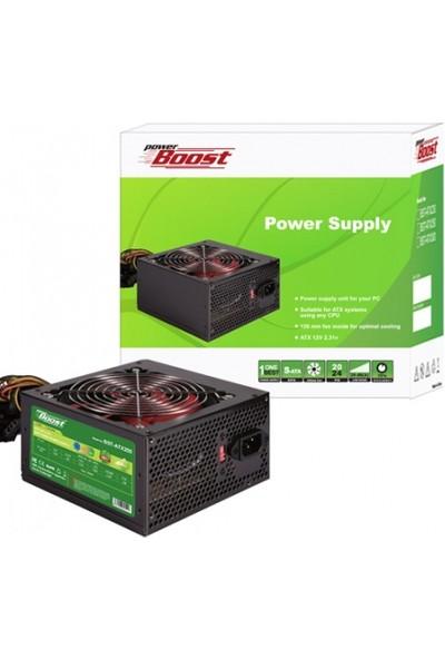 PowerBoost BST-ATX250R 250w 12cm Kırmızı Fanlı ATX Power Supply