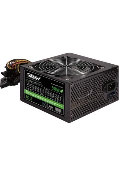 Powerboost ATX Serisi 500W 4xSATA, 4xHDD, 1xPCI-E, 1x8pin(4+4), 12cm fanlı Bilgisayar Güç Kaynağı (Power Supply)