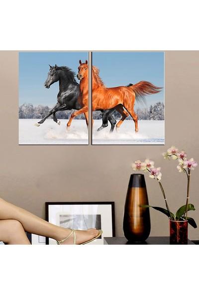 Eslim İ179 Horses Parçalı Tablo 70X100 Cm