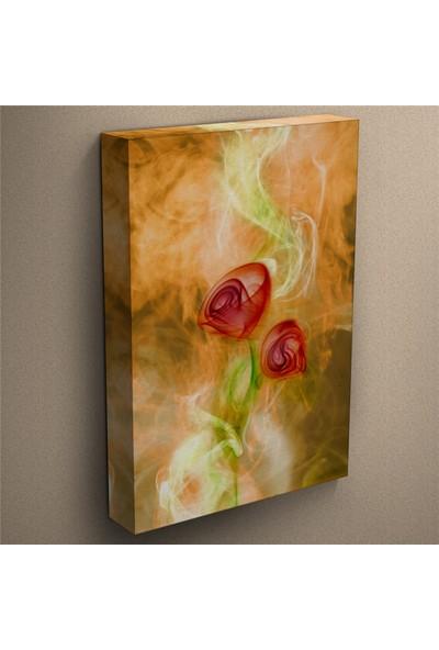 Eslim T131 Sanatsal Modern Gül Kanvas Tablo 100X150 Cm