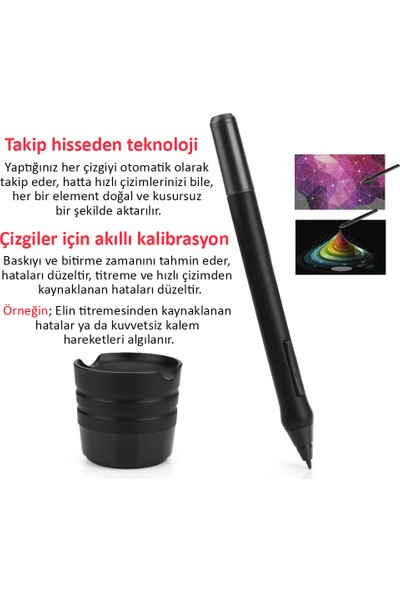 Parblo A610 Grafik Tablet Dijital Kalemli Çizim Tableti