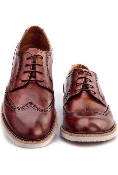 Cabani Oxford Günlük Erkek Ayakkabı Taba Antik Deri