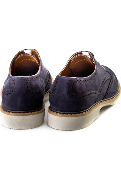 Cabani Oxford Günlük Erkek Ayakkabı Lacivert Nubuk